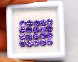 Amethyst 6.22Ct 20Pcs Natural Uruguay VVS Electric Purple Amethyst EN11