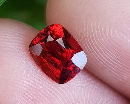 NO TREAT 1.30 CTS NATURAL STUNNING CUSHION MIX RED SPINEL BURMA