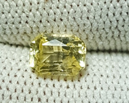 NO HEAT 1.08 CTS CERTIFIED NATURAL STUNNING YELLOW SAPPHIRE SRI LANKA