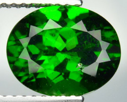 3.14 Cts Natural Forest Green Chrome Diopside 10x8mm Oval Russian Gem
