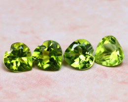Peridot 2.06Ct 4Pcs Natural Pakistan Himalayan Green Peridot E1115
