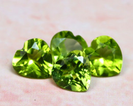 Peridot 1.99Ct 4Pcs Natural Pakistan Himalayan Green Peridot E1116