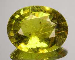 8.05 Cts Dazzling Natural Tourmaline Yellow Oval Mozambique
