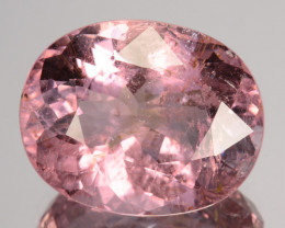 6.55 Cts Dazzling Natural Pink Tourmaline Oval Mozambique