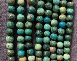 404.00cts of 4 Strands Wholesale lot of Chrysocolla Beads 40cm long 6mm