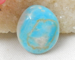 45cts Blue Opal Cabochon, October Birthstone, Blue Opal Bead E739