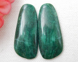 Green malachite cabochon pair,beautiful Jewelry, for designer E727