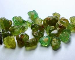 50.55 Cts Natural - Unheated Green Garnet Rough Lot