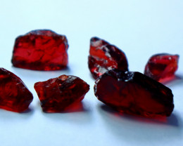 32.25 cts Natural - Unheated Red Garnet Rough Lot