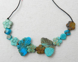 24.5CTS Fashion Natural Turquoise Necklace,Lucky Turquoise E768