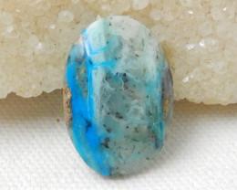 20cts Blue Opal Cabochon, October Birthstone, Blue Opal Bead E751