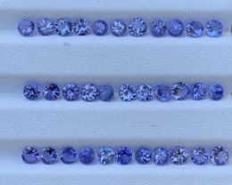 Round Shape 10.21 Carats Tanzanite Gemstone Parcels