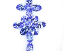 2.80 Cts Natural Purplish Blue Tanzanite 5x3mm Oval 12Pcs Tanzania