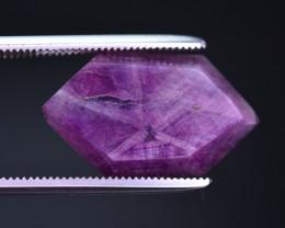 Rarest 9.00 ct Trapiche Pink Kashmir Sapphire --MH