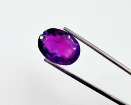 ON SALE! 11.40 CT SIBERIAN AMETHYST BRIGHT GRAPE PURPLE FACETED GEMSTONE
