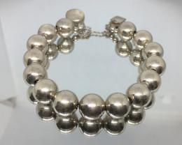 Estate Tiffany Style Sterling Silver Ball Bracelet !