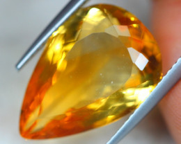 9.24ct Natural Yellow Citrine Pear Cut Lot GW4950