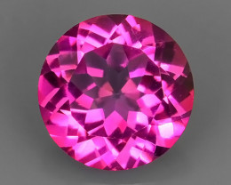 5.00 CTS SUPERIOR! TOP QUALITY ROUND CUT HOT PINK-TOPAZ GENUINE NR!!