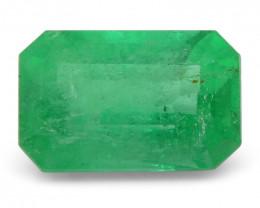 0.99 ct Emerald Cut Emerald Colombian