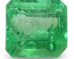 0.72 ct Emerald Cut Emerald Colombian