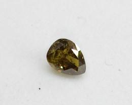 0.26ct  Fancy Deep Green  Diamond , 100% Natural Untreated