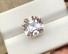 6 Ct Natural Peach Color Transparent Morganite Gemstone