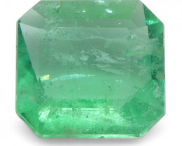 0.58 ct Emerald Cut Emerald Colombian-$1 No Reserve Auction