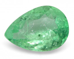 0.62 ct Pear Emerald Colombian