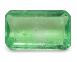 0.63 ct Emerald Cut Emerald Colombian