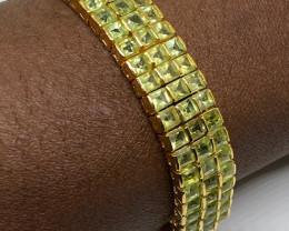 ( 25) Brilliant Natural 23.82 grams Peridot  Bracelet
