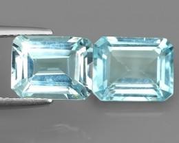 7.40 CTS  DELUXE REAL OCOTGON NATURAL SWISS TOPAZ UNHEATED 2 PCS