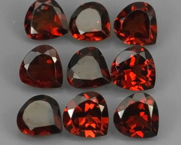 7.30 CTS~EXQUISITE NATURAL UNHEATED ORANGE RED COLOR RHODOLITE GARNET!!
