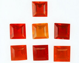 5.20Ct Natural Mexican Fire Opal Square 6mm Parcel