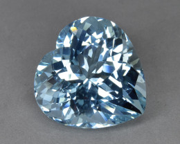 15.91 Cts Amazing Beautiful Heart Shape Natural Aquamarine