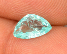 0.93 Cts Natural Copper Bearing Paraiba Tourmaline Blue Green Triangle Moza