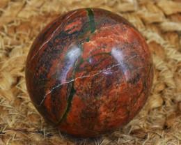 Genuine 795.00 Cts Blood Green Unakite Healing Sphere