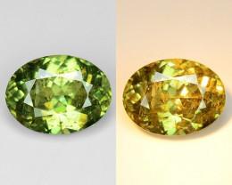 0.73 Cts Untreated Color Changing Natural Demantoid Garnet Gemstone