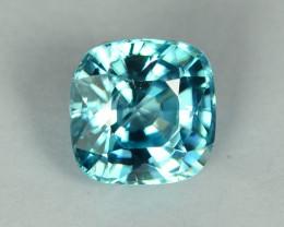 2.77 Cts Fabulous Lustrous Cambodian Blue Zircon