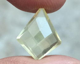 LEMON QUARTZ CHECKERED CUT NATURAL GEMSTONE VA4639