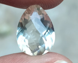 GREEN AMETHYST CHECKERED CUT Natural Gemstone VA4656