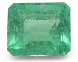 0.58 ct Emerald Cut Emerald Colombian