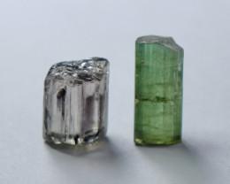 6.80 Cts Beautiful, Superb  Green Tourmaline Crystal