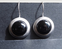 Onyx and silver earrings