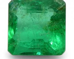 0.87 ct Square Emerald Colombian