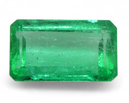 0.53 ct Emerald Cut Emerald Colombian