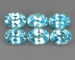 9.30 cts swiss Blue Topaz 8X6 mm oval parcel