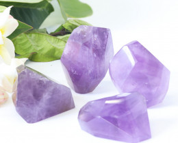 1730 cts Four Natural  Amethyst  Faceted Specimens  CF160