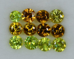 2.261 Cts Stunning Lustrous 3.5mm Sphene Lot