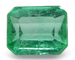 0.55 ct Emerald Cut Emerald Colombian- $1 No Reserve Auction