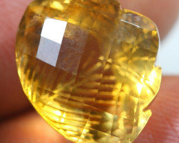 12.20cts  Gold Yellow Citrine Fancy Carving Gemstone